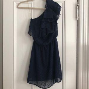 Dresses & Skirts - Off the shoulder navy dress